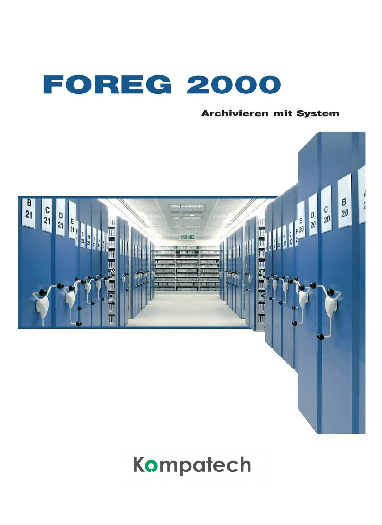 Archiv Rollregal Katalog Foreq 2000